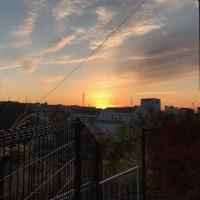 たまプラーザ団地の今朝の日の出の様子です。