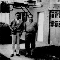 1971年ヨーロッパ周遊・ベルギーのクレルフェー鳩舎にて(グレートコーマライン源鳩マルセーユJr導入)