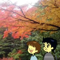 絵日記:紅葉でほっこり・・