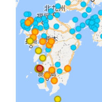 6月20(火)の空間放射線量。 どうも定期的に原発から、ゴミを出している気がする。本日は九州の原発。大した量ではないが