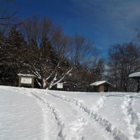 雪の池田山その4
