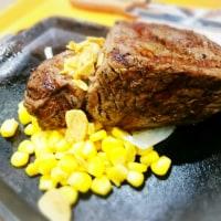 昼ご飯は、サーロインステーキ(イキナリステーキ 新さっぽろ カテプリ)