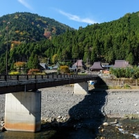 山と川と橋と山村(滋賀県大津市)
