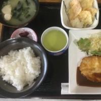 2月20日の日替り定食550円は チキンピカタ、赤ワインデミソース です。