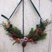 クリスマスに飾るスワッグ。