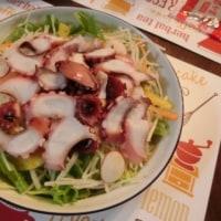 汁なし担々麺&たこサラダ&出汁巻き玉子