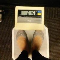 今日の体重 61.6㎏