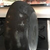 鉄のフライパンの再生