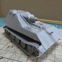 E-75 1.28cm/L55 自走砲の組み立て