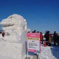 つどーむの雪祭りに行ってきました。