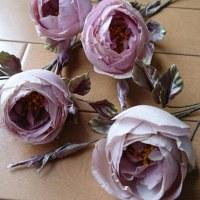 最近の人気レッスンの布花たち