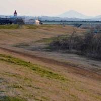 信濃川~2017早春の夕景