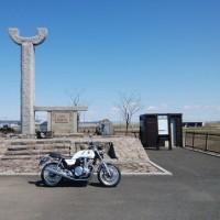 20170410_CB1100EX出庫、本庄陸男の石狩川碑、新URL。