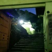 夕暮れのお城山