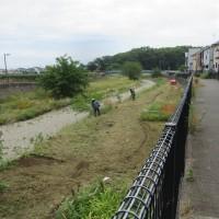 空堀川の草刈り作業