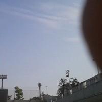 本日真田山プール上空地震雲。