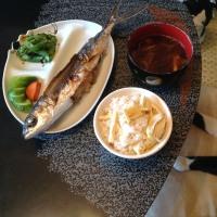飛魚と破竹ご飯