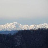 綺麗に見えた白馬の山々