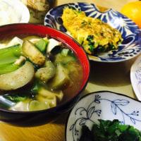 母の野菜たっぷり朝ごはん