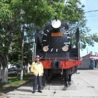 サハリンのD51蒸気機関車