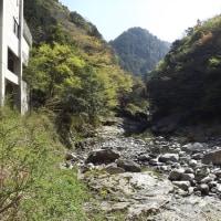面河渓関門の様子(4月28日)