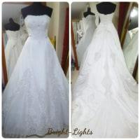 ロングトレーンのドレス(*^_^*)