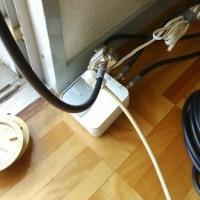 エアコンとBSアンテナ移設