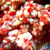 白花豆のサルササラダ