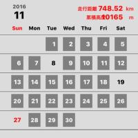 11月の走行距離