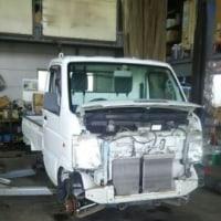 スズキのキャリートラック車検整備とブレーキやワイパーウォッシャー等付随作業