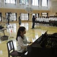 BSーTBS「校歌をたずねて」の収録、県陸上大会壮行会ほか