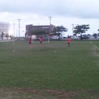 沖縄女子短期大学女子サッカー広場のナイター
