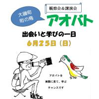 【参加者募集】アオバト観察会&講演会