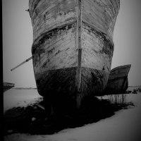 石狩川河口の廃船