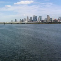 3回目は1人で走りました。新大阪~舞洲、36キロ。往復3時間。日焼けで真っ黒(^^;