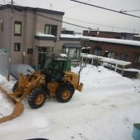 はじめての排雪作業・・・