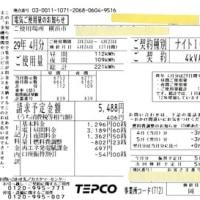 電気使用量と余剰購入電力量の精査「2017年4月分 ミニソーラー横浜青葉発電所」