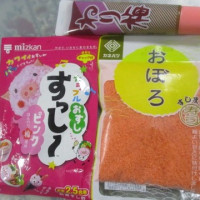 ピンク酢飯の色づけ