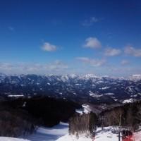 週末 鷲が岳 高鷲 天気良好