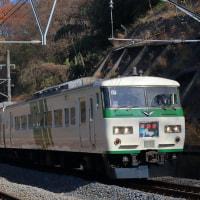 185系「踊り子」ヘッドマークと日本最古の現役トンネル