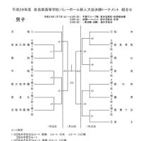 h28新人戦 男子決勝トーナメント組合せ