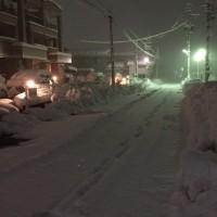 どっさりと雪が降って、朝から2時間耐久 雪ほげ練。 〜 ローラー 20分だけ。