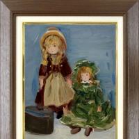 油絵「西洋人形」