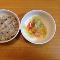 今日の離乳食(晩御飯)【117日目】