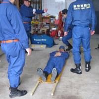 雨の防災訓練
