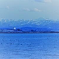 ●河北潟から富山県・立山連峰 剣岳 白山が見えました。