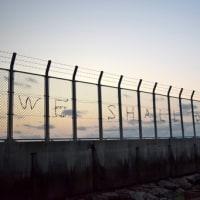 沖縄・ちるだい3月5日、日曜日、辺野古の浜の朝焼け