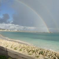 虹を見た。
