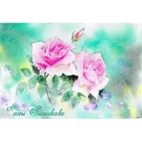 絵画販売・ポストカード「薔薇の花」