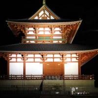 平城宮跡の朱雀門のライトアップ